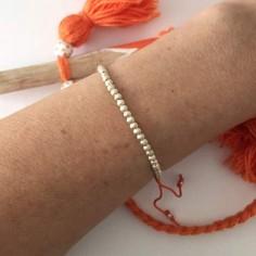 Elise bracelet silver 925 small ridge beads
