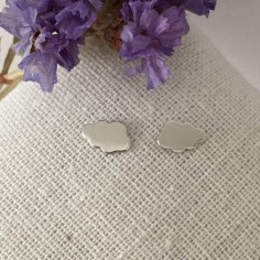Small cloud earrings silver 925