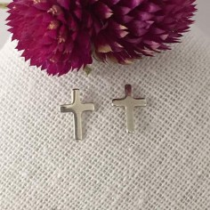 Small crosses earrings silver 925