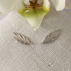 Feathers earcuffs silver 925