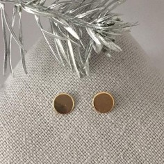 Small pastilles earrings gold plated