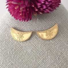 Half moon earrings gold plated