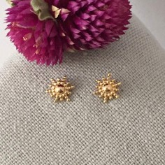 Small sun earrings gold plated