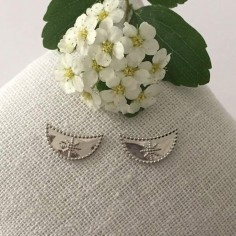 Half moon earrings silver 925