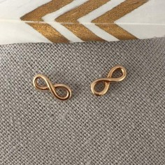 Small infinity earrings gold plated