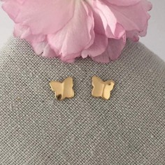 Small butterflies earrings gold plated