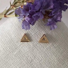 Small triangles earrings gold plated