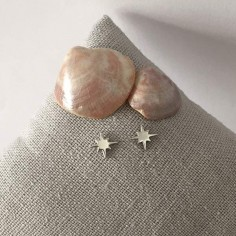 Small stars 6 branches earrings silver 925