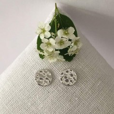 Hammered pastilles earrings silver 925
