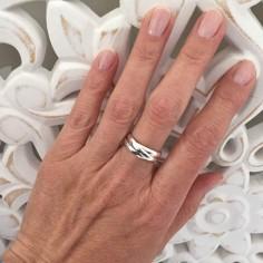 Three rings ring silver 925