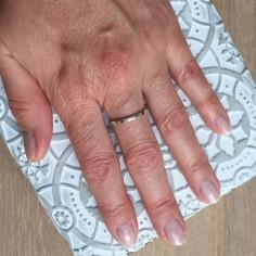 Thin flat ring silver 925