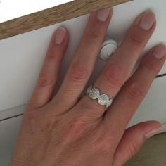 Circle beads ring silver 925
