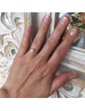 Small beads ring silver 925 small white freshwater pearl