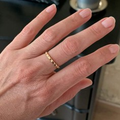 Wavy ring gold plated