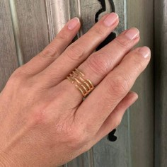 Labyrinth large ring gold plated