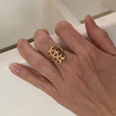 Baroque knot ring gold plated