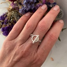 Chain toggle ring silver 925