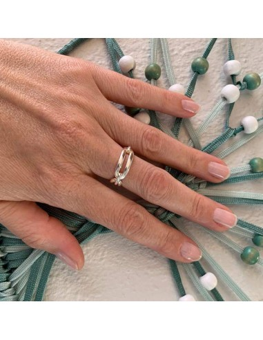 Link ring silver 925