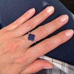 Small beads ring silver 925 lapis lazuli cross