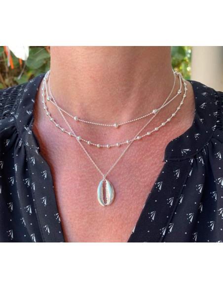 Cauri chain necklace silver 925