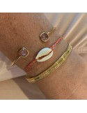 Cord bracelet mother of pearl cauri