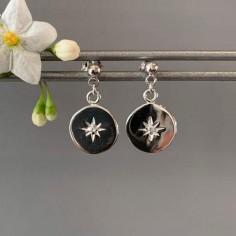 Zircons earrings silver 925