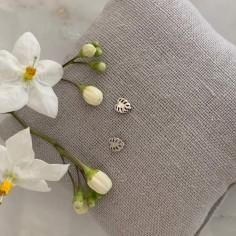 Small leaves earrings silver 925