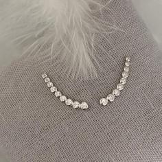 Nine zircons earcuffs silver 925