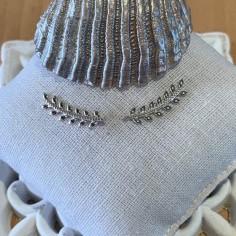 Laurel leaves earcuffs silver 925