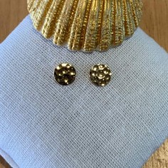 Small hammered pastilles earrings gold plated