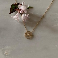 Tree of life chain necklace gold plated