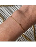 Small beads chain bracelet gold plated