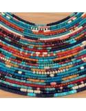 Heishi turquoise and lapis lazuli stones necklace