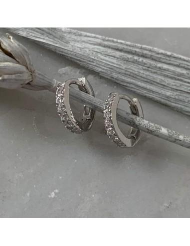 Small silver 925 hoop earrings