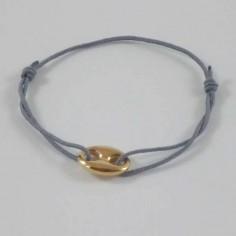 Bracelet gros Grain de café plaqué or