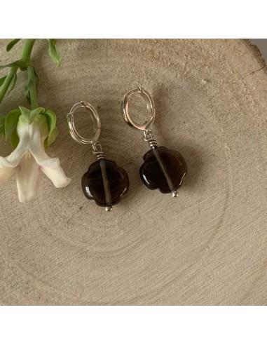 Slver 925 small hoop earrings with...