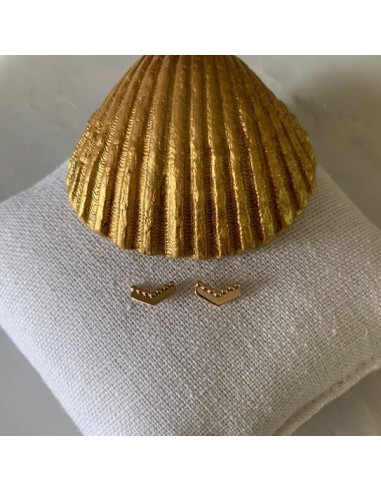 Gold plated small V earrings