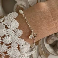 Bracelet chaine argent...