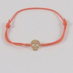 Bracelet mini Tête de Mort plaqué or