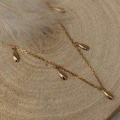 Gold plated olivettes chain...