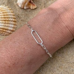 Silver 925 link rectangle...