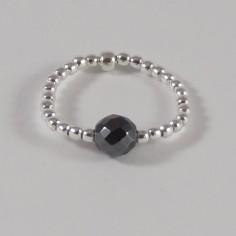 Silver 925 hematite small...