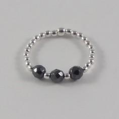 Silver 925 three hematite...
