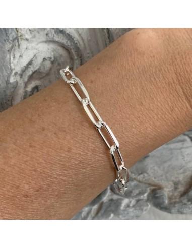 Silver 925 XL rectangle chain bracelet