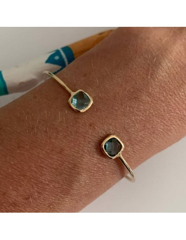 Gold plated light blue stones thin...