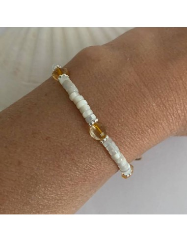 White mother of pearl and citrine...