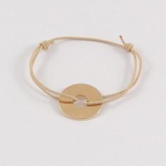 Bracelet cordon Cible plaqué or