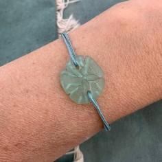 Aqua green sand dollar with...