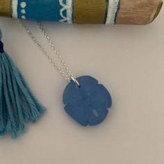 Silver 925 blue sand dollar...