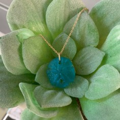 Gold plated turquoise sand...